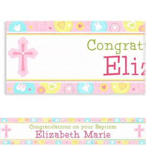 Custom Sweet Christening Girl Banner 6ft