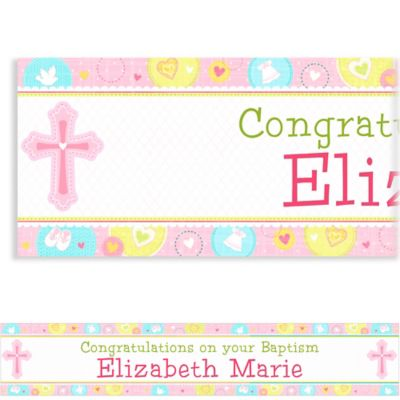 Sweet Christening Girl Custom Banner