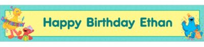 Sesame Street Custom Birthday Banner 6ft