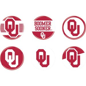 Oklahoma Sooners Buttons 6ct