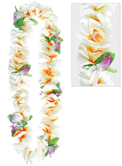 White Soft Petal Lei