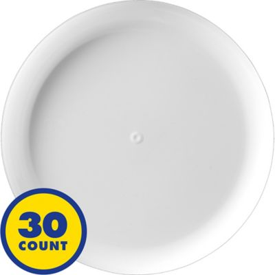 White Plastic Lunch Plates 30ct