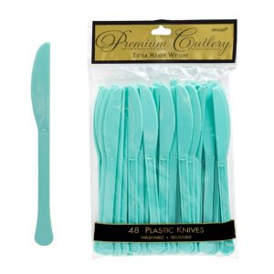 Robin's Egg Blue Premium Plastic Knives 48ct