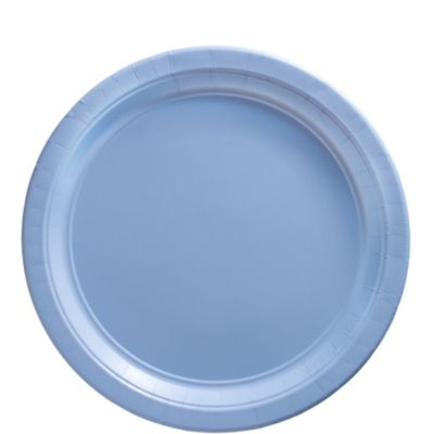 Pastel Blue Paper Lunch Plates 50ct