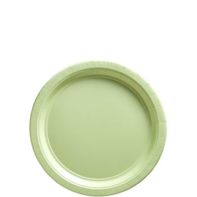 Leaf Green Paper Dessert Plates 50ct