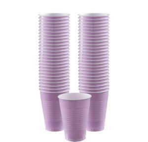 BOGO Lavender Plastic Cups 50ct