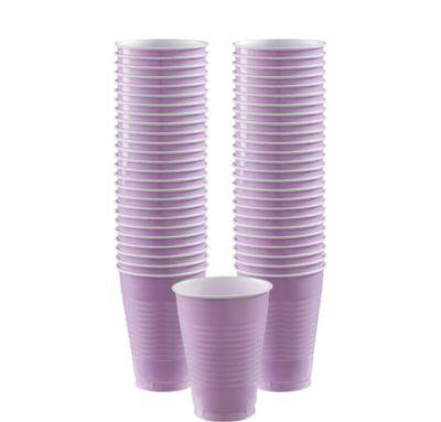 BOGO Lavender Plastic Cups 12oz 50ct