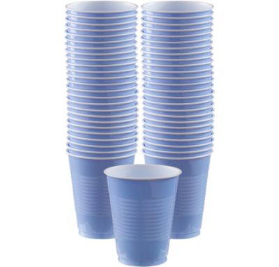 BOGO Pastel Blue Plastic Cups 16oz 50ct