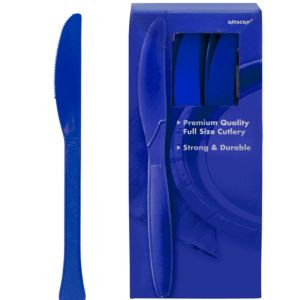Big Party Pack Royal Blue Premium Plastic Knives 100ct