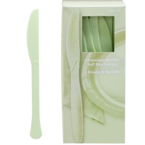 Big Party Pack Leaf Green Premium Plastic Knives 100ct