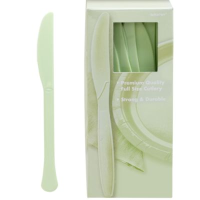 Leaf Green Premium Plastic Knives 100ct