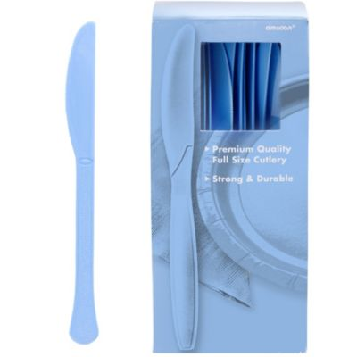 Pastel Blue Premium Plastic Knives 100ct