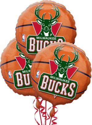 Milwaukee Bucks Balloons 3ct - Basketball