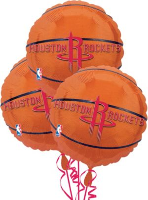 Houston Rockets Balloons 3ct - Basketball