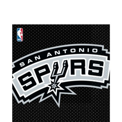 San antonio spurs lunch napkins 16ct party city for Spurs decorations