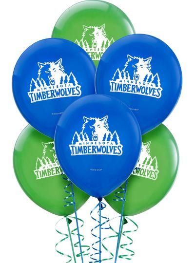 Minnesota Timberwolves Latex Balloon 12in 6ct