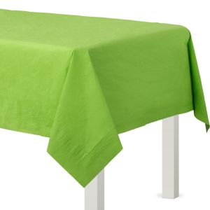 Kiwi Green Paper Table Cover