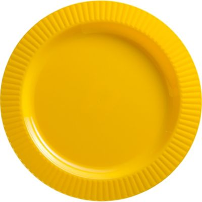 Sunshine Yellow Premium Plastic Dinner Plates 16ct