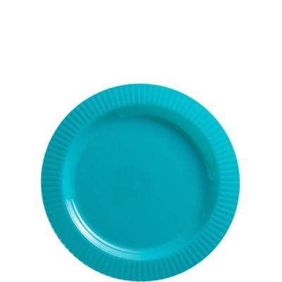 Caribbean Blue Premium Plastic Dessert Plates 32ct