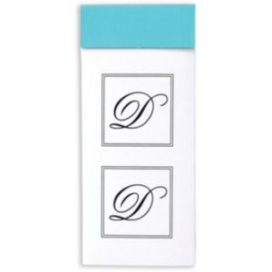 Monogram D Sticker Seals 30ct