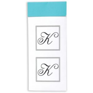 Monogram K Sticker Seals 30ct
