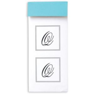 Monogram Envelope Seals Q 30ct