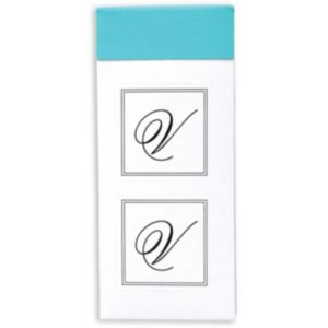 Monogram V Sticker Seals 30ct
