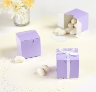 Lavender Favor Boxes