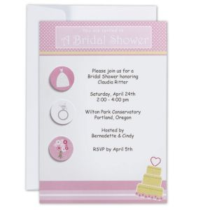 Bride Fun Printable Bridal Shower Invitations 12ct