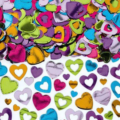 Multicolor Heart Confetti