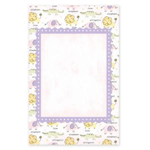 Girl Zoo Printable Baby Shower Invitations 25ct