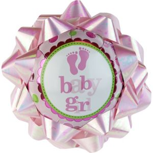 2Baby Girl Balloon Gift Bow