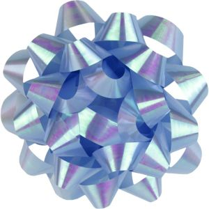 Iridescent Blue Gift Bow