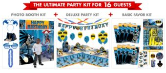 Batman Ultimate Party Kit for 16 Guests