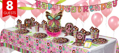 Hippie Chick Birthday Party Supplies Super Party Kit
