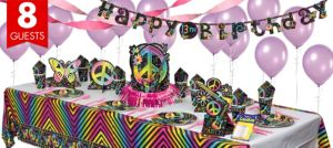 Neon Doodle Super Party Kit for 8 Guests