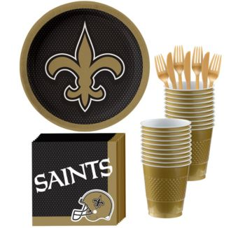 New Orleans Saints Basic Party Kit for 18 Guests