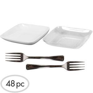 Mini Plastic Appetizer Set 48pc