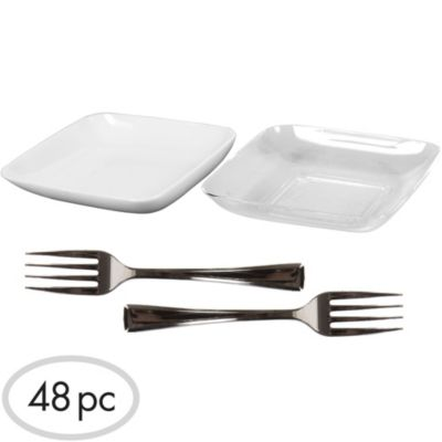 Mini Plastic Appetizer Set 48pc
