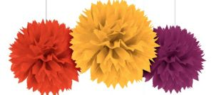 Fall Fluffy Decorations 3ct