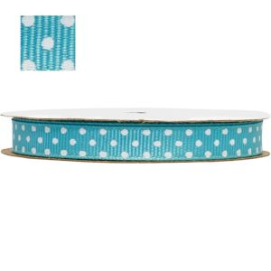 Robin's Egg Blue Polka Dot Ribbon
