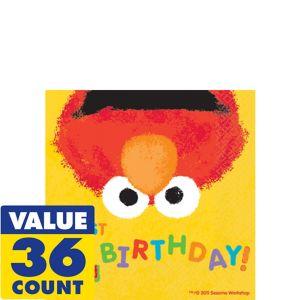 1st Birthday Elmo Beverage Napkins 36ct
