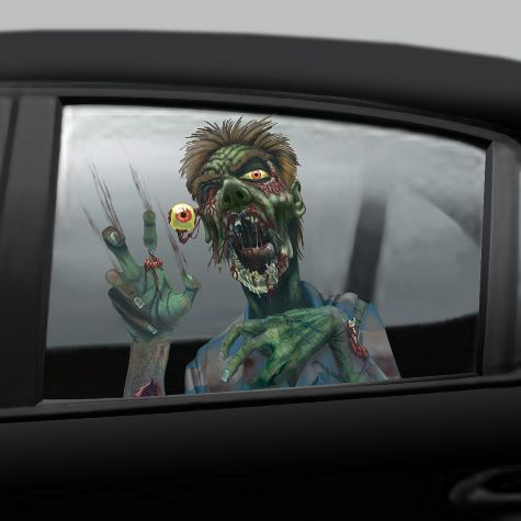 Cling Decals Zombie Car Window Cling Decals