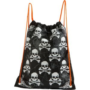 Spiders & Skulls Drawstring Treat Bag