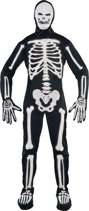 Adult Frightening Bones Skeleton Costume