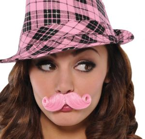 Pink Mini Handlebar Moustache