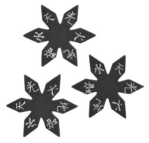 Foam Ninja Stars 3ct