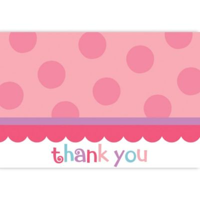 Pink Sweet Little Cupcake Thank You Notes 20ct