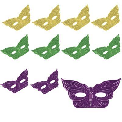Foil Butterfly Mardi Gras Masks 36ct