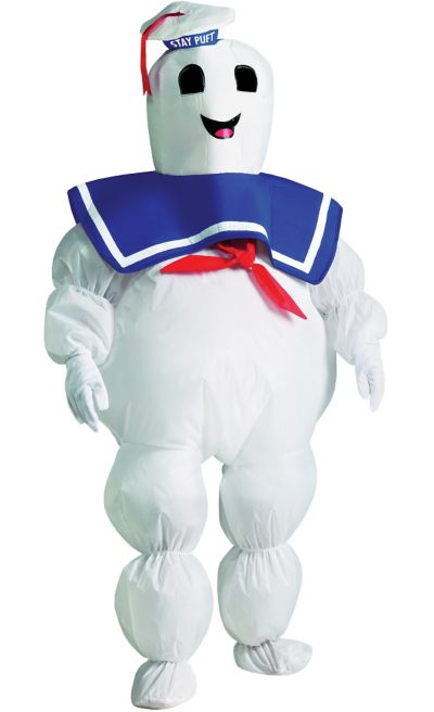 Boys Inflatable Stay Puft Marshmallow Man Costume - Ghostbusters